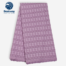Bestway African Polish Plain Swiss Voile Lace Fabric LiLac Color Dry Cotton Eyelet For Mens/Womens In Switzerland