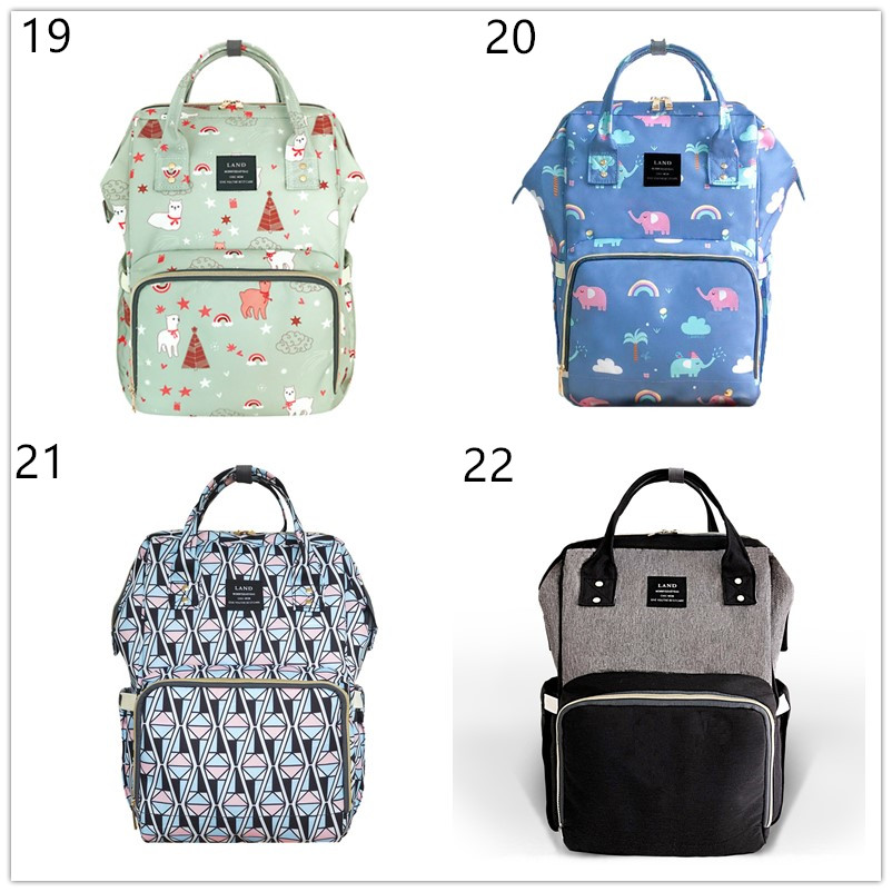 HTB1cfrfdi6guuRkSmLyq6AulFXa9 Authentic LAND Mommy Diaper Bags Mother Large Capacity Travel Nappy Backpacks anti-loss zipper Nursing Bags for baby  MPB01