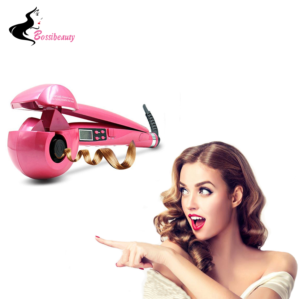 Automatic Hair Curler Pro Ceramic Hair Curling Iron Magic Wave Curl Roller Curling Wand Hair Styler electric magic hair styling tool rizador hair curler roller monofunctional spiral curling iron wand curl styler nhc 8558