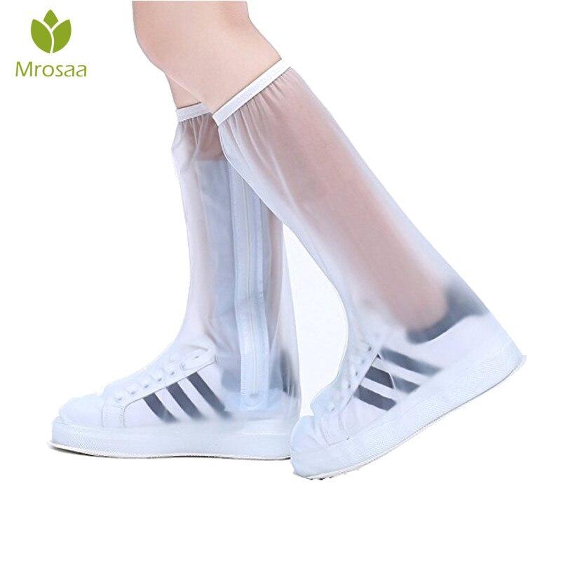 Waterproof Rain Reusable Shoes Covers, All Seasons Slip-resistant Zipper Rain Boots Overshoes, Men&Womens Shoes Accessories