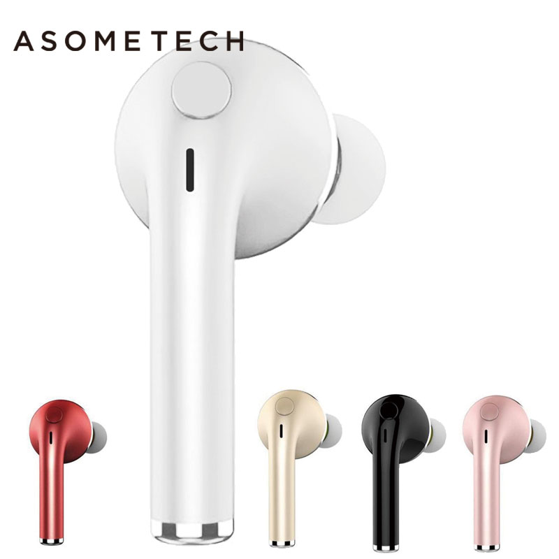 Mini Bluetooth Wireless Earphone with Microphone Music Sport Headset Universal for Iphone 8 8 plus Samsung Xiaomi Mobile Phones bluedio t4 original wireless headphones portable bluetooth headset with microphone for iphone htc samsung xiaomi music earphone