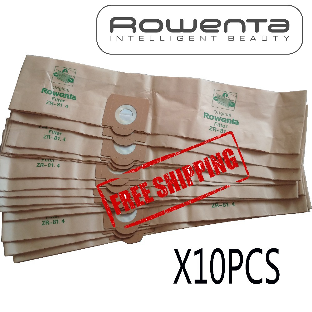10 pcs dust bag for  Rowenta ZR-81 VCP3811 RU-100  Vacuum Cleaner Paper Bags BAG27 RU01 RU02 RU020 RU03 RU05 RU065 RU07 rowenta zr 002901
