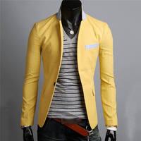 Men Suit Blazers Formal Linen Top Chất Lượng One Button Phù Hợp Với Coat Casual Slim Phù Hợp Với Áo Khoác Outwear Tops Mùa Thu 0359