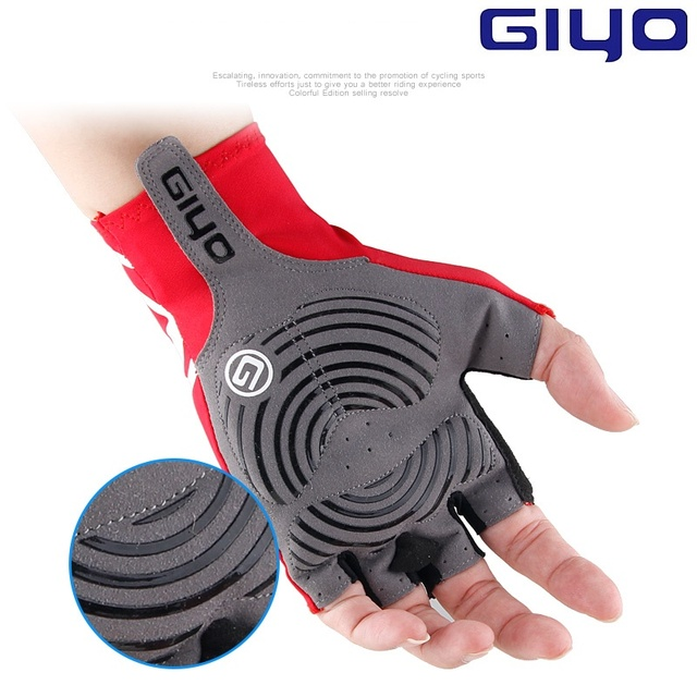 Giyo Breaking Wind Cycling Half Finger Gloves Anti-slip Bicycle Lycra Fabric Mittens MTB Gloves Racing Road Bike Glove 3
