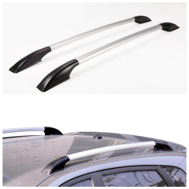 2Pcs/Set Aluminum Alloy Car Rack The Roof Rack Luggage Rack Bars Sticker for Mg3 Mg 3 Accessories Easy Install Without Drilling for toyota rav4 2013 2014 2015 2016 top roof rack side rails bars luggage carrier fixed type