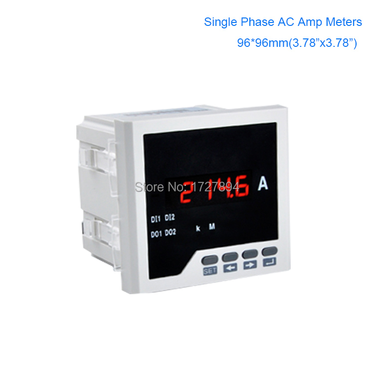 Digital LED AC ampere meter,Panel mounting 96*96MM(3.78*3.78)Single Phase 0-5A amperemeter ,A meter suit for electric project органайзер для хранения носков sima land цвет белый на 20 пар