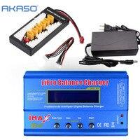 AKASO iMAX B6 LCD Screen Digital RC Lipo NiMh Battery Balance Charger + XT60 / T Plug Adaptor Board 2 6S + 12v 6A Power Adapter