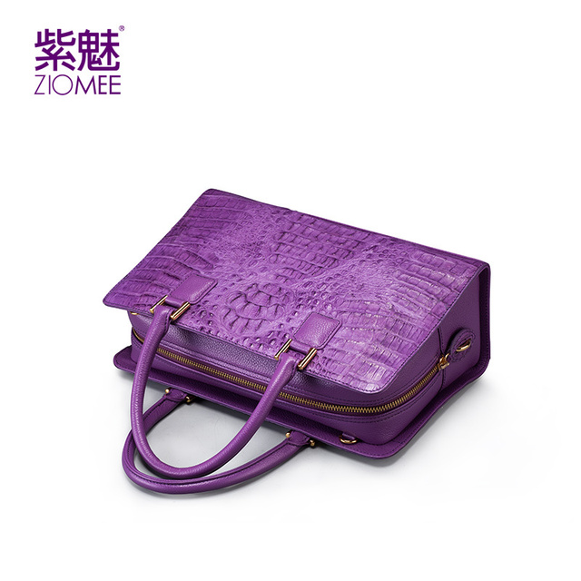 100% handmade women customized crocodile genuine leather handbag ladies high quality ZIOMEE brand designer new tote evening bags