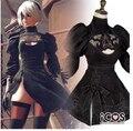 Nier: autômatos jogo heroína 2b black dress cosplay frete grátis