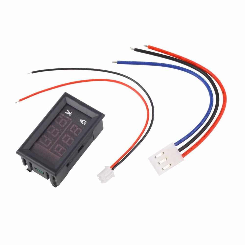 Hoopet DC 100 V 10A voltmètre ampèremètre bleu + rouge LED ampères double voltmètre numérique jauge tension courant Aquarium accessoire outil