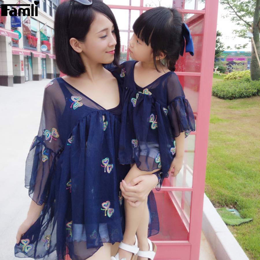 Famli 1 pieza madre hija vestidos a juego mamá bebé niña-6232
