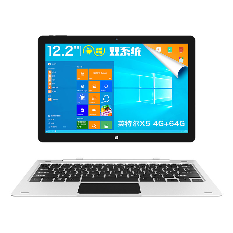 Instockteclast tbook 12 Pro 2 в 1 Tablet PC 12,2 дюймов tbook12pro Windows 10 Home Android 5,1 Intel Cherry Trail X5 Z8300 64bit