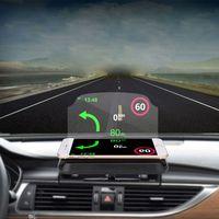Universal carro windscreen projetor hud cabeça up display titular do telefone móvel multifunções 6.5 Polegada para o telefone gps velocímetro