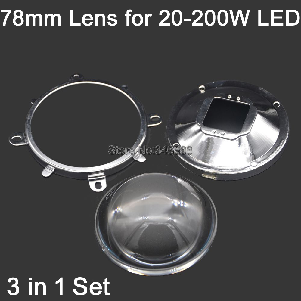 78mm Lens 82mm Reflector Collimator Base 85mm Fixed bracket For 20W-100W LED