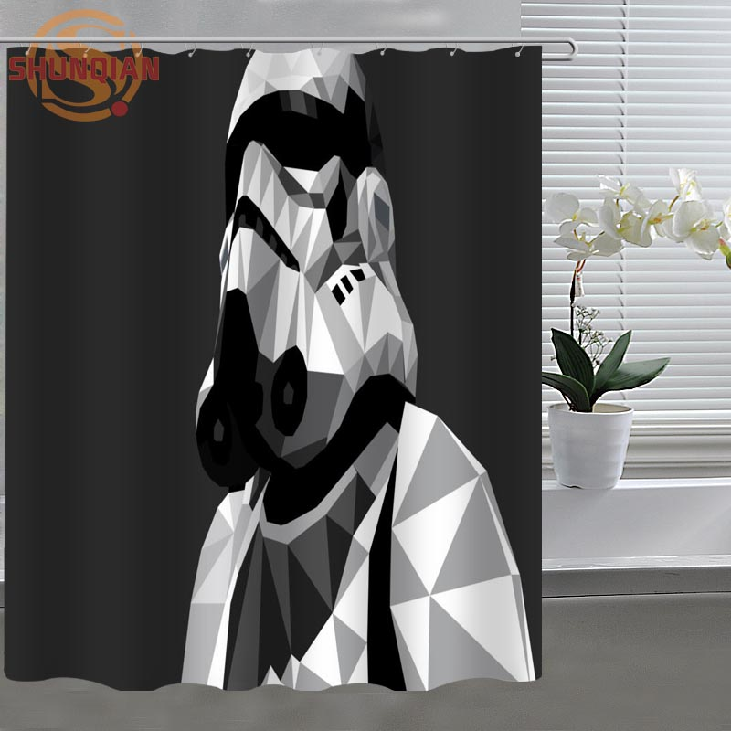 Star Wars Stormtrooper Custom Shower Curtain Fabric Polyester Bath Beautiful H03uv26 131 In Curtains From Home Garden On Aliexpress