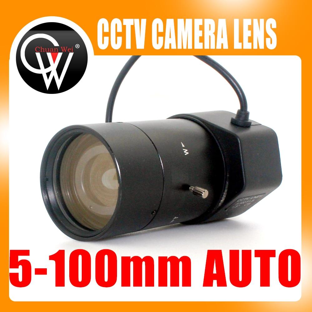 New 5-100mm CS F1.8 Lens 1/3 Varifocal Auto Iris zoom lens for Security CCTV Camera f1 8 1 3 inch cs mount 5 0 100mm dc auto iris manual zoom cctv lens for cctv camera