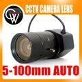 """Nuevo 5-100mm F1.8 Lente CS 1/3 """"Varifocal Auto Iris zoom lente para la Cámara de Seguridad CCTV"""