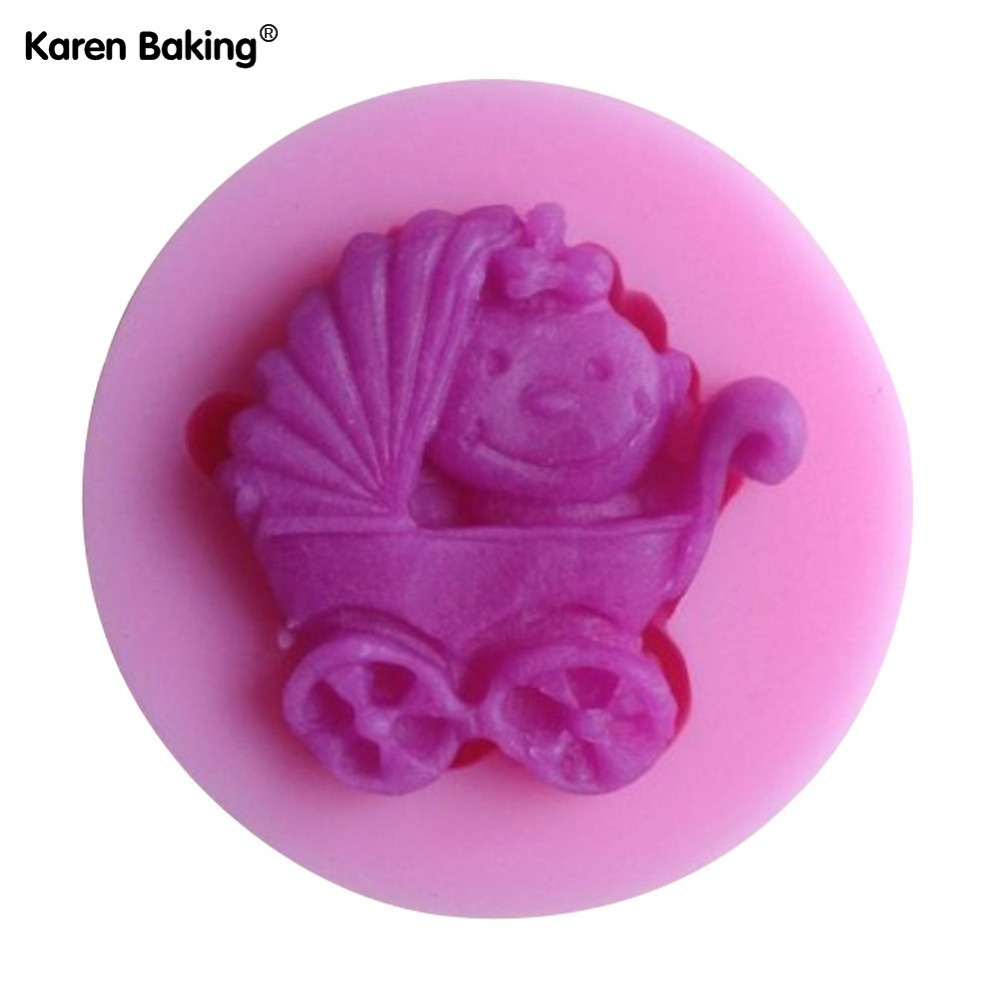 Baby Carriage Shower Party Silicone Mold Soap,Fondant Baby Mold,Candle Mold  Chocolate Mold