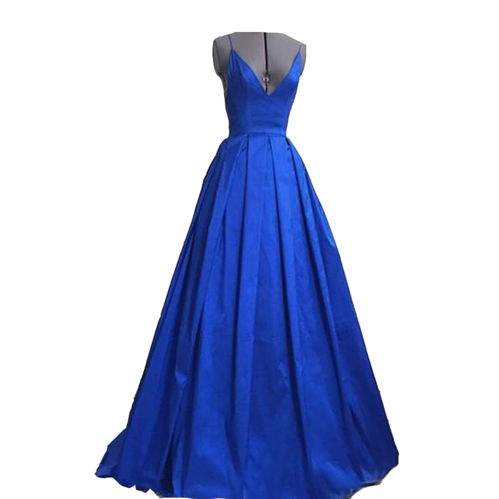 Royal Blue Long Evening Dress New Arrival Elegant Sexy Backless Women Formal Dresses For Wedding Guest