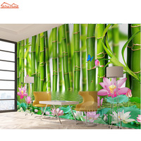 SPA Massage Bamboo Floral 3d Room Wallpaper for Walls 3d Livingroom Wall Paper Mural Rolls Household Decal Papel De Parede