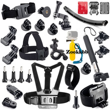 Zookkbb Accessories Set Chest Head Belt Strap Extendable Handle Monopod Floating Handle Grip for Gopro Hero 4 3+ 3 2 Sj4000