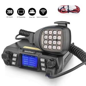 Image 2 - Mobile Ham Radio Transceiver VHF 75W UHF 55W High Power Mobile Auto Radio Dual Band Quad Standby Fahrzeug transceiver Station