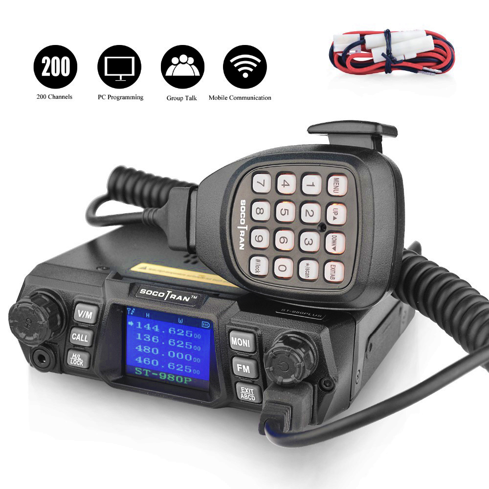 Image 2 - Mobile Ham Radio Transceiver VHF 75W UHF 55W High Power Mobile Car Radio Dual Band Quad Standby Vehicle Transceiver Station-in Walkie Talkie from Cellphones & Telecommunications