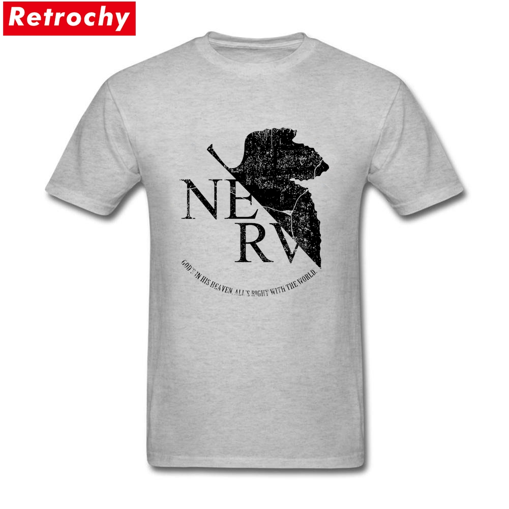2017 Cute Mens NERV Black Tshirt Short Sleeved Crew Neck Cotton neon genesis evangelion apparel Big Size Printed T shirts