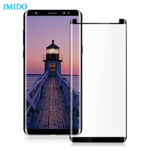 IMIDO Case Friendly Tempered Glass For Samsung Galaxy Note8 3D Curved Screen Protector Protective Film For