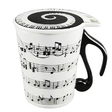 Christmas gifts Musical Notes Holds Piano Song Coffee Milk Ceramic Mug Cup Best Gift 300ml