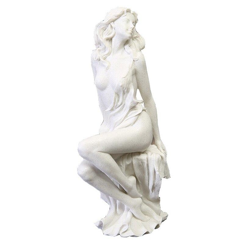 Ev ve Bahçe'ten Statü ve Heykelleri'de Avrupa Bayan Kumtaşı Reçine El Sanatları Yaratıcı Oturma Güzellik Kız Heykel Süsler Yaratıcı Dekorasyon Ev Mobilya Hediyeler'da  Grup 1