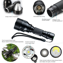 LED Flashlight XML-L2 8000LM C8 Tactical  LED Flashlight Aluminum Hunting Flashlight Torch Lamp +18650+Charger