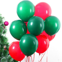 AVEBIEN 10pcs 2.2g Green/Red Dot Christmas Decoration Emulsion Balloon Wedding Decorations Air Ball Happy Birthday Party Supplie