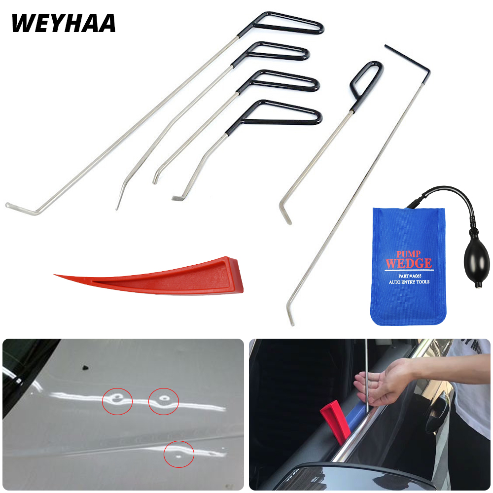 WEYHAA PDR Hook Tools Push Rods Dent Removal Tools Paintless Dent Repair Tools Car Body Repair Kit