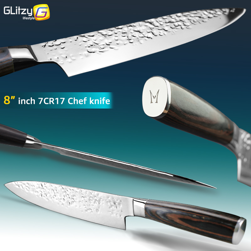 Kuća i bašta ... Kuhinja i trpezarija ... 32800950776 ... 2 ... Kitchen Knife 8 inch Professional Japanese Chef Knives 7CR17 440C High Carbon Stainless Steel Meat Cleaver Slicer Santoku Knife ...