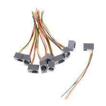 Pcs 616E 4P4C RJ11 Fêmea Adaptador de Conector de Telefone 10 4 Fios 8cm