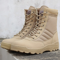 Men Desert Tactical Military Boots Mens Work Safty Shoes Zapatos De Mujer Army Boot Zapatos Ankle Lace up Combat Boots Size 46