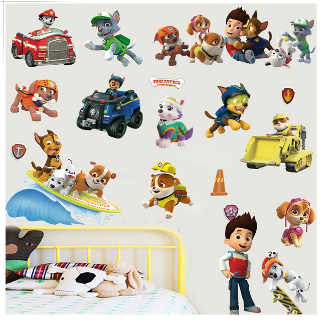 Cartoon Pawpatrol Muurstickers Movie Posters Hond Patrol Kwekerij ...
