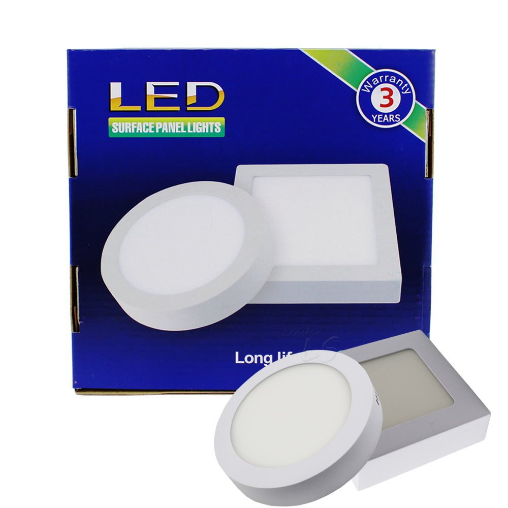 Surface Mounted LED Downlights 6W 12W 18W Dimmable LED Recessed Ceiling Down Lights 120 Angle Panel Lamp AC 85-265V led panel light 6w surface mounted led ceiling lights ac 85 265v square led downlight
