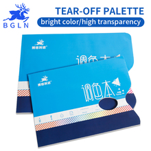 Bgln 36 Sheets Paper Teared Off Watercolor Palette Oil Paiting Palette Free Cleaning Palette For Acrylic Painting Pigments high quality professional watercolor oil acrylic 36 wells painting art palette very large