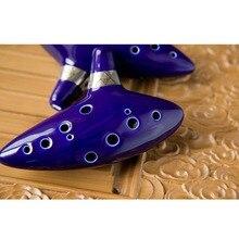 12 Hole Ocarina Ceramic Alto C Legend of Zelda Ocarina Flute Blue Instrument free shipping