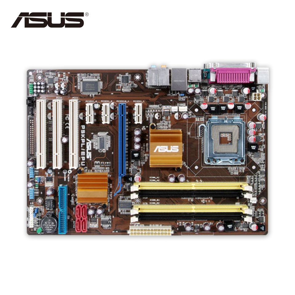 Asus P5KPL/EPU Original Used Desktop Motherboard P5KPL G31 Socket LGA 775 DDR2 ATX On Sale asus ms g31mel support ddr2 775 pin integrated small plate g31 motherboard
