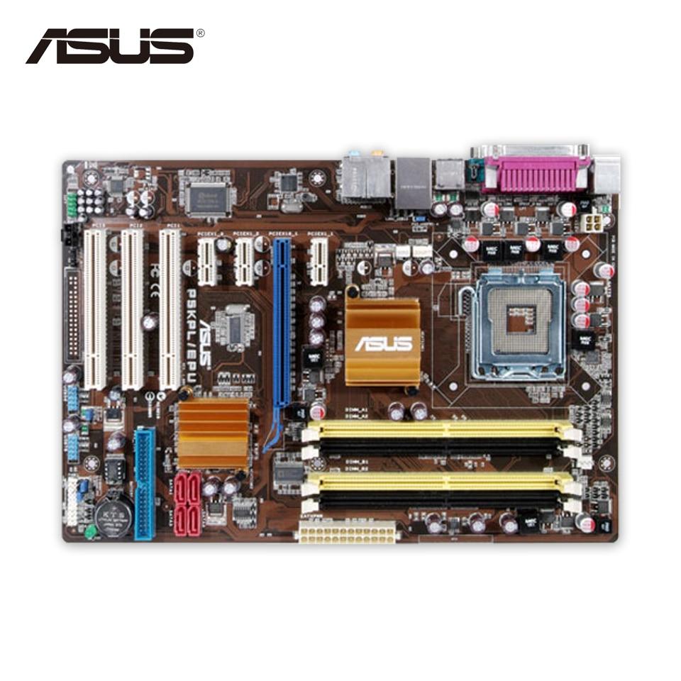 Asus P5KPL/EPU Original Used Desktop Motherboard P5KPL G31 Socket LGA 775 DDR2 ATX On Sale asus g31 g31mx k motherboard supports ddr2 775 pin integrated small plate