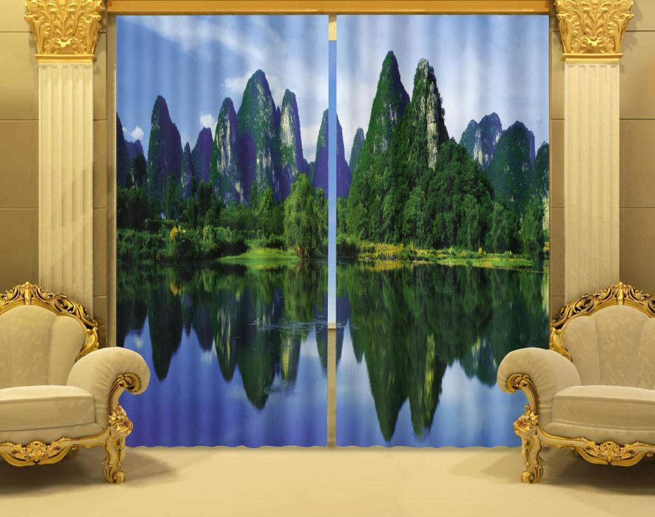 Online Shop Photo Print stereoscopic 3d Curtains Scenery landscape trees  printed 3d curtain 100% shading | Aliexpress Mobile