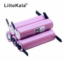 חדש 100% מקורי Liitokala 18650 2600 mAh סוללה ICR18650 26FM ליתיום 3.7 V סוללה נטענת + DIY ניקל גיליון