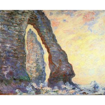 The Rock Needle Seen through the Porte d Aval of Claude Monet art oil paintings Canvas reproduction hand-painted