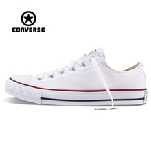 White Converse All Star Sneakers Unisex Low Top Skateboarding Shoes Anti-Slippery Rubber Sneakser Classic Canvas Converse Shoes(China)