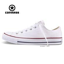 b982cb1f2 Белые Converse All Star Sneakers Unisex низкий топ Скейтбординг обувь анти-скользкой  резины Sneakser Классический