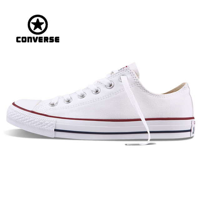 6fbe34b25b0 White Converse All Star Sneakers Unisex Low Top Skateboarding Shoes  Anti-Slippery Rubber Sneakser Classic Canvas Converse Shoes