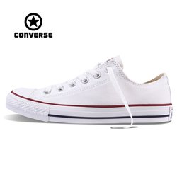 White Converse All Star Sneakers Unisex Low Top Skateboarding Shoes Anti-Slippery Rubber Sneakser Classic Canvas Converse Shoes